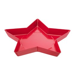 VINTER 2018 candle dish, star, red