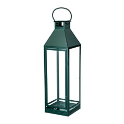 VINTER 2018 lantern for block candle, green