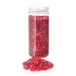 VINTER 2018 decoration, crushed glass, red