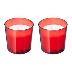 VINTER 2018 scented candle in glass, red Cinnamon apple, red