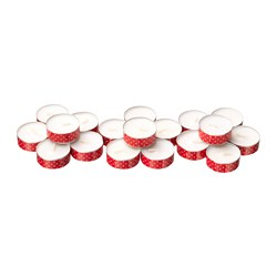 VINTER 2018 unscented tealight, red