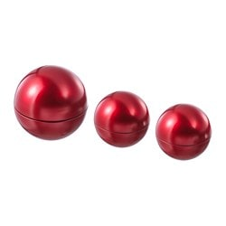 VINTER 2018 decoration ball, set of 3, red