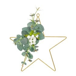 SMYCKA artificial wreath, in/outdoor, star