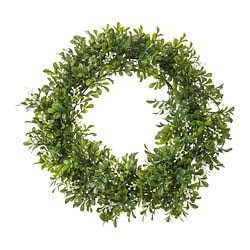 SMYCKA artificial wreath, in/outdoor, Box