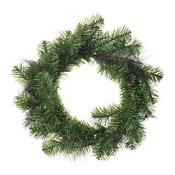 SMYCKA artificial wreath, in/outdoor, pine spruce