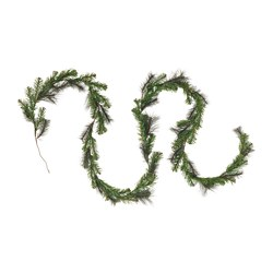 SMYCKA artificial garland, in/outdoor, green