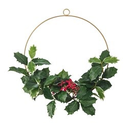SMYCKA artificial wreath, in/outdoor, Holly