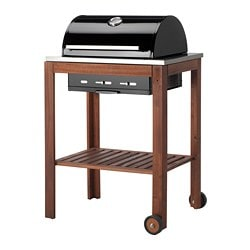 ÄPPLARÖ /  KLASEN charcoal grill, brown stained