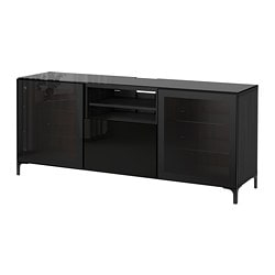 BestÅ Tv Unit Black Brown Selsviken High Gloss Clear Gl