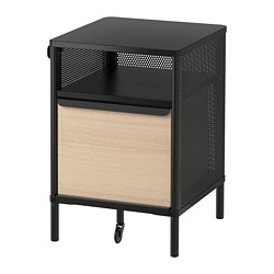 BEKANT storage unit on legs, mesh black
