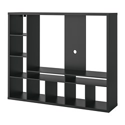Lland Tv Storage Unit Black Brown