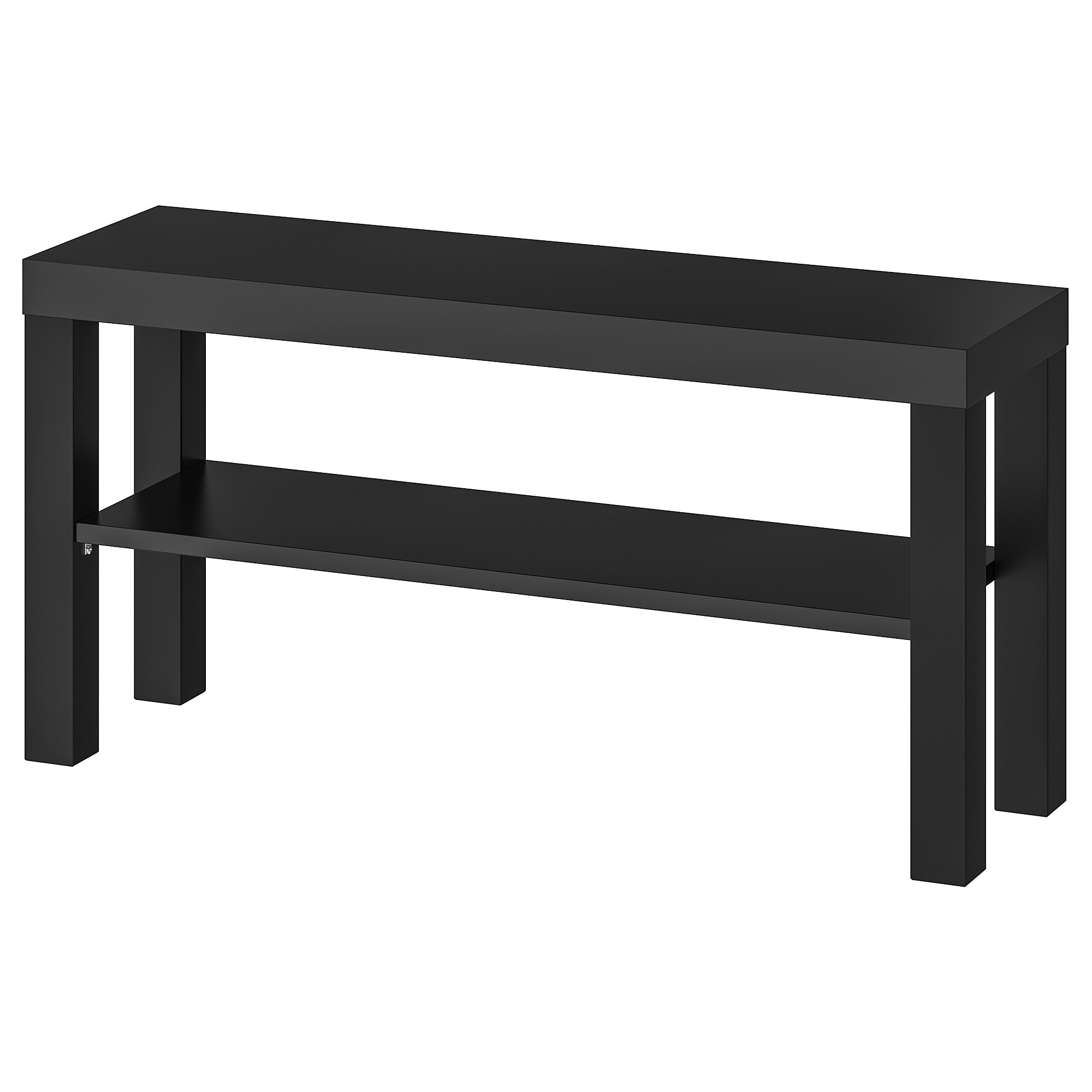 "LACK TV bench, black, 35 3/8x10 1/4x17 3/4 "" (90x26x45 cm)"