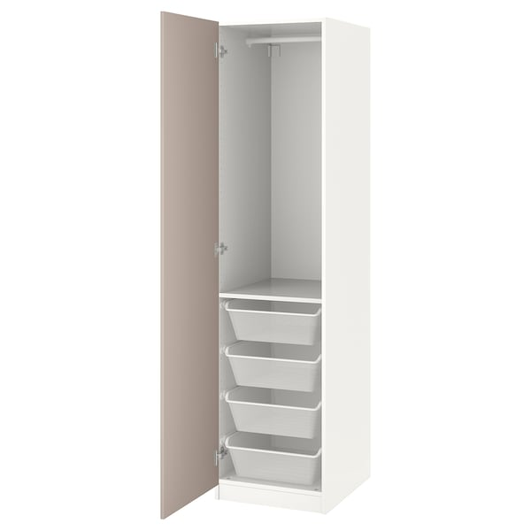 Armadio Raccolta Differenziata Ikea.Guardaroba Pax Bianco Fardal Beige Scuro Lucido