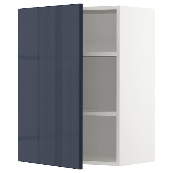 Wall Cabinet With Shelves Metod White Jarsta Black Blue