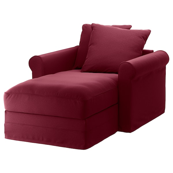 Chaise GRÖNLID Ljungen dark red