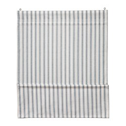 RINGBLOMMA Roman blind, white/blue