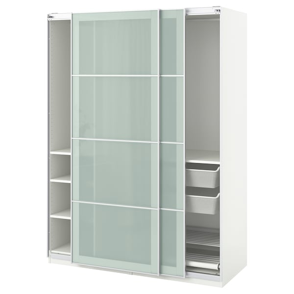 Ikea Guardaroba Planner.Wardrobe Pax White Sekken Frosted Glass