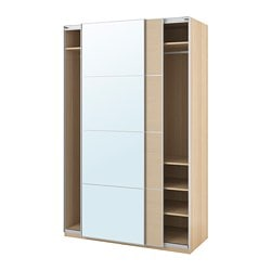 PAX wardrobe, white stained oak effect, Auli Ilseng