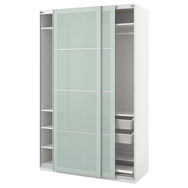 low priced ffb11 4c9d6 Wardrobe PAX white, Sekken frosted glass