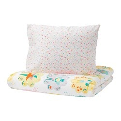 LATTJO quilt cover and pillowcase, fairy, light pink