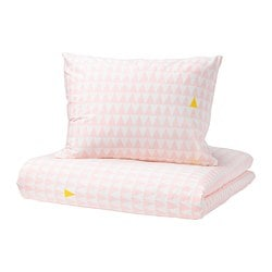 STILLSAMT duvet cover and pillowcase(s), light pink