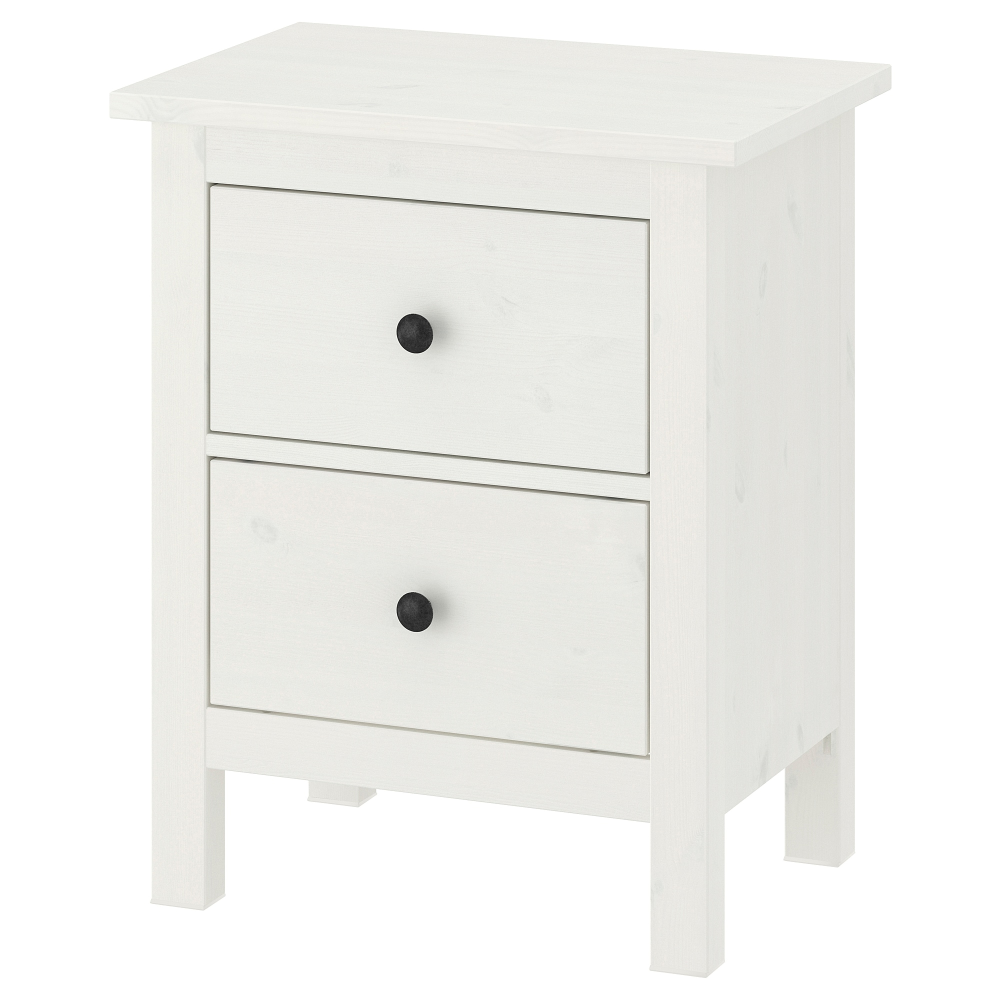 hemnes chest of 2 drawers white stain ikea. Black Bedroom Furniture Sets. Home Design Ideas