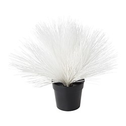 FEJKA artificial potted plant with LED, battery-operated, Pine white