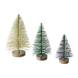FEJKA artificial plant, set of 3, Christmas tree