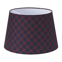 RYRA lamp shade, check red, blue