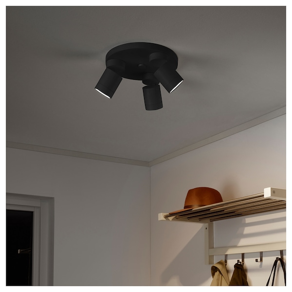 Ceiling Spotlight With 3 Lights NymÅne Anthracite