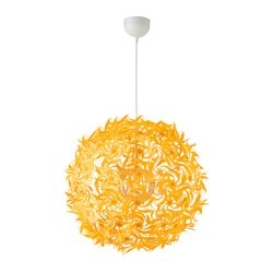 GRIMSÅS pendant lamp, yellow