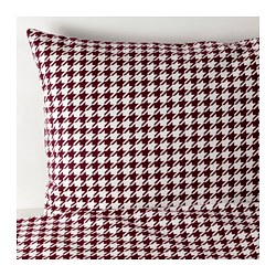 VINTER 2018 quilt cover and 2 pillowcases, dark red