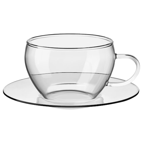 a16a55f2044 IKEA GLASBULT Cup with saucer