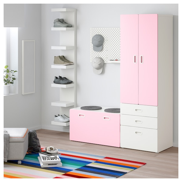 Storage WhiteLight With Wardrobe Stuva Pink Bench Fritids pjSVqzMLUG