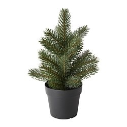 FEJKA artificial potted plant, in/outdoor Christmas tree