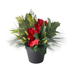 FEJKA artificial potted plant, arrangement red
