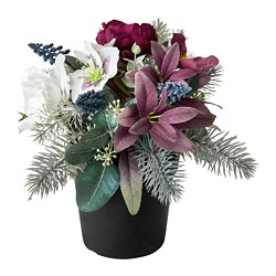 FEJKA artificial potted plant, arrangement purple