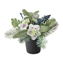 FEJKA artificial potted plant, arrangement white