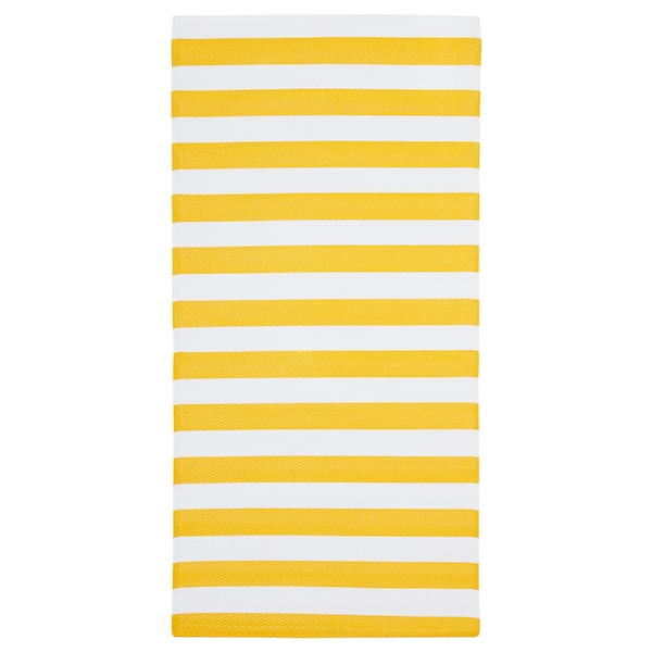 Rug Flatwoven Sommar 2019 Yellow White In Outdoor