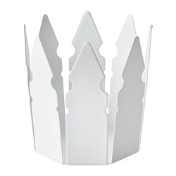 VINTER 2018 candle holder, crown, white
