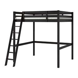 STORÅ loft bed frame, black