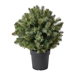 FEJKA artificial potted plant, in/outdoor, spruce ball shaped