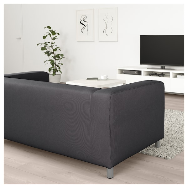 klippan 2er sofa kabusa dunkelgrau ikea. Black Bedroom Furniture Sets. Home Design Ideas