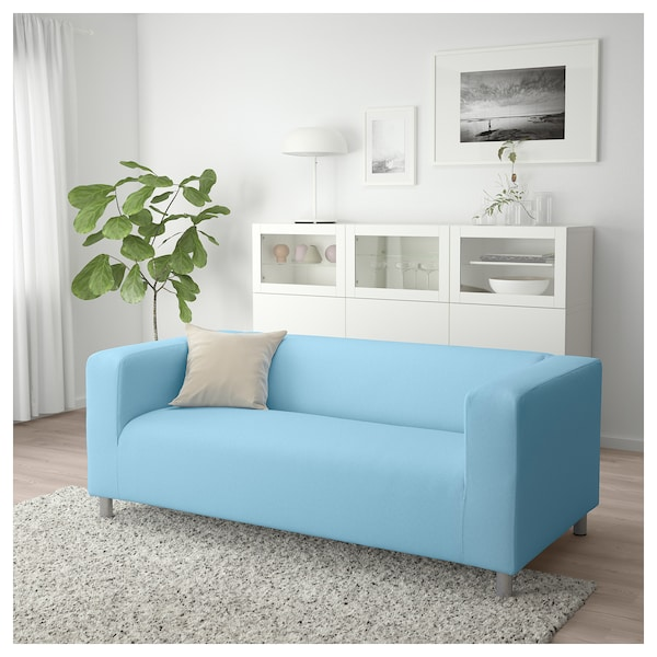 klippan 2er sofa vissle hellblau ikea. Black Bedroom Furniture Sets. Home Design Ideas