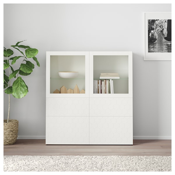 best vitrine wei vassviken klarglas wei ikea. Black Bedroom Furniture Sets. Home Design Ideas