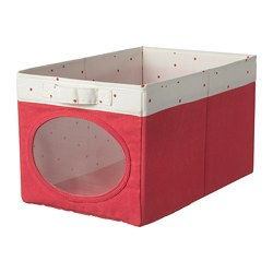 NÖJSAM box, light red