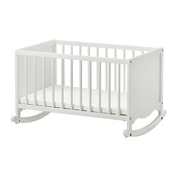 SOLGUL cradle with foam mattress, white