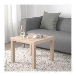 LACK coffee table, white stained oak effect