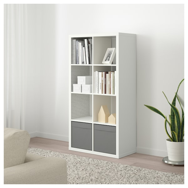 Shelf Unit Kallax White Check Pattern