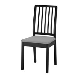 EKEDALEN chair, black, Orrsta light gray
